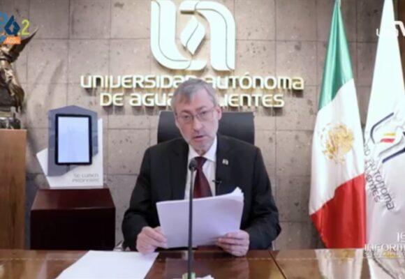 RECONOCE GOBERNADOR COMPROMISO SOCIAL DE LA UAA ANTE LA PANDEMIA POR COVID-19