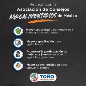 TOÑO MARTÍN DEL CAMPO OFRECE APOYO ABSOLUTO A PRODUCTORES AGRÍCOLAS