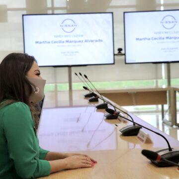 SE REÚNE MARTHA MÁRQUEZ CON DIRECTIVOS DE NISSAN PARA TRABAJAR EN BENEFICIO DEL PERSONAL DEL SECTOR AUTOMOTRIZ.