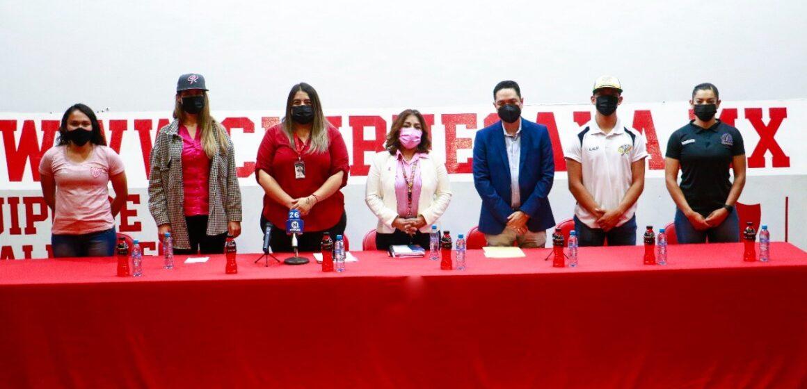 """ISSEA, CLUB NECAXA, LOBAS Y RIELEROS PRESENTARON LA CAMPAÑA """"HAGAMOS EQUIPO CONTRA EL CÁNCER""""."""